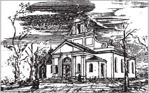 Widok kościoła od zachodu – 1924 r.