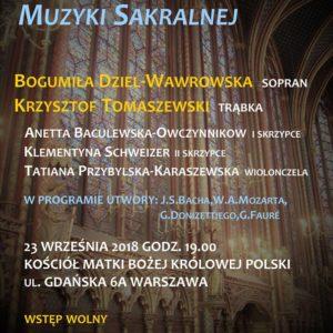II Żoliborskiego Festiwalu muzyki sakralnej.
