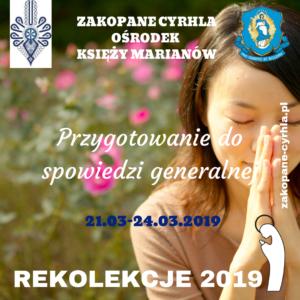 Rekolekcje 2019  – Marianie