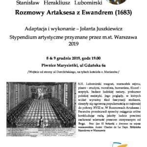Rozmowy Artaksesa i Edwarda -XVII w. – monodram